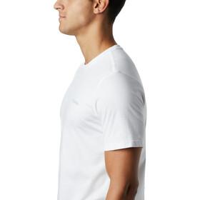 Columbia Rapid Ridge Back Graphic Camiseta Hombre, white csc textured dot